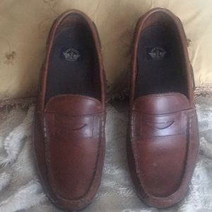 Men's Dark Tan Dickers Leather Loafers